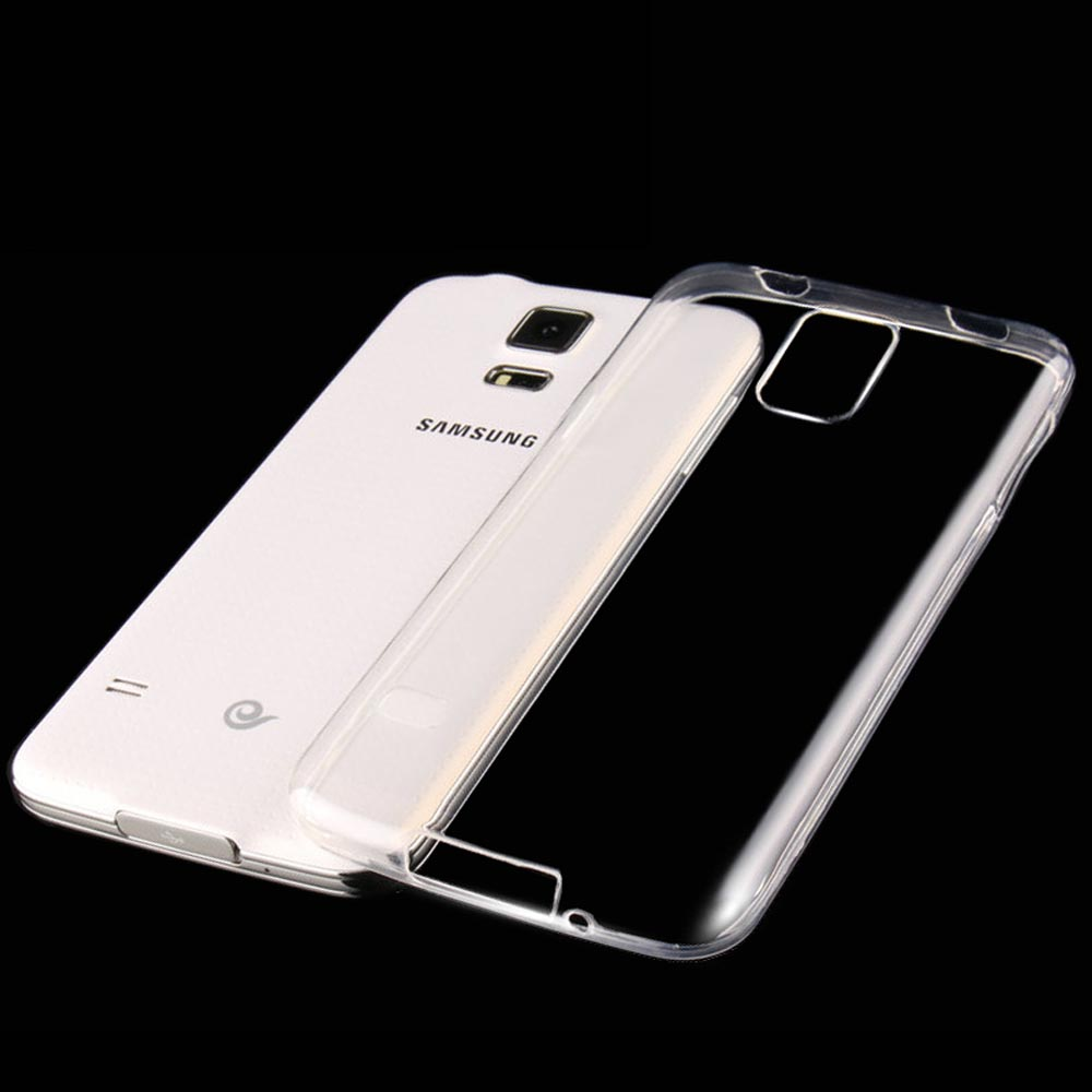 Clear Transparent Soft TPU Silicon Silicone Rubber Phone Bags Cases for Samsung Galaxy S5 mini