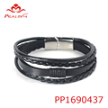 Good quality dubai kada leather wraps bracelet bangles bracelet factory projector