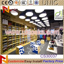 High quality shoe store design shoe display case show display for sale