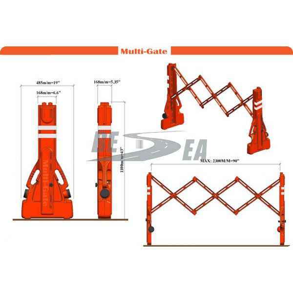 China Wholesale Alibaba Portable Plastic Retractable Safety Barriers