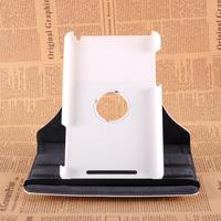 Wholesale 360 Rotation imitation leather Stand Flip tablet Cover Case For Google Nexus 7