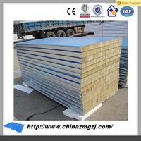 150mm Rock Wool Sandwich Panels Type and Metal Panel Material fire prevention panel