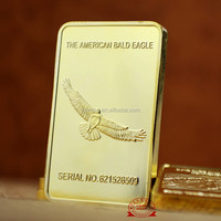 """THE AMERICAN BALD EAGLE"" rectangle coins, High quality cheap custom engraved coin"