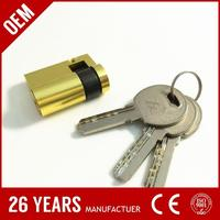 t-handle vending machine lock cylinder. high quality brass cylinder. security door lock cylinder 70mm