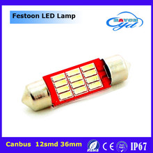 Hot sale festoon 4014 12SMD Led atuo lamp reading light high quality 12V led car