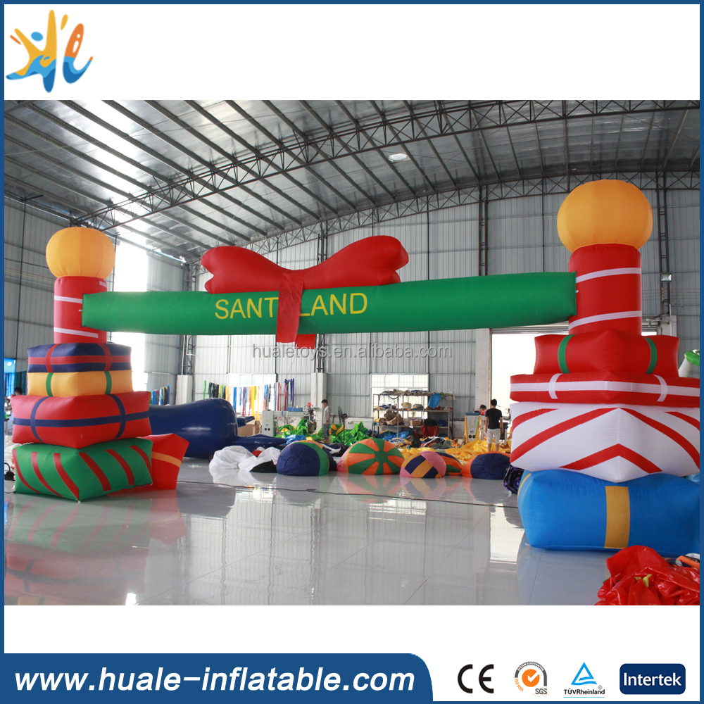 christmas decoration supplies giant inflatable christmas arch for fun