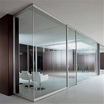 Factory tempered glass office partition interior glass Interior glass partition systems