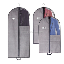 Hanging Travel Closet Clear Organizer Cheap Plastic Zipper Nonwoven Storage Breathable Carry Garment Suit Bag Cover with window
