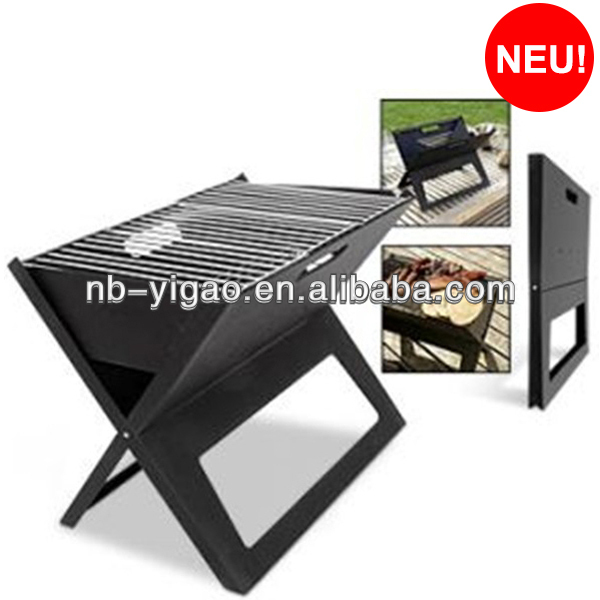 X shaped barbecue portable notebook bbq charcoal grill portable bbq stand
