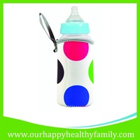 Insulated Neoprene Baby Bottle Insulator Cooler Holder Bag with hanging strap