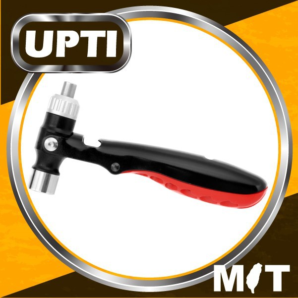 UPTI New Patented Multi-Function Hammer Hand Tool Kit 3-in-1 Multi-Tool Ratcheting Screwdriver, Hammer & Socket Wrench Combo To