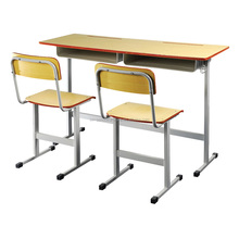 Double Student Desk and Chairs Set