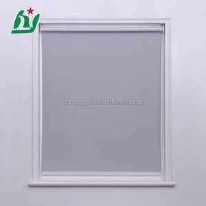 manually operated day night customized european printed roller blind fabric