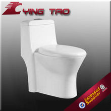Easily maintaining and repairable Smooth washdown Elongated CUPC one piece toilet