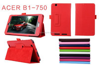 Lichee Pattern flip leather case for Acer B1-750 stand case cover