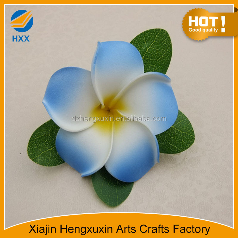 hair clip with artificial plumeria made in china