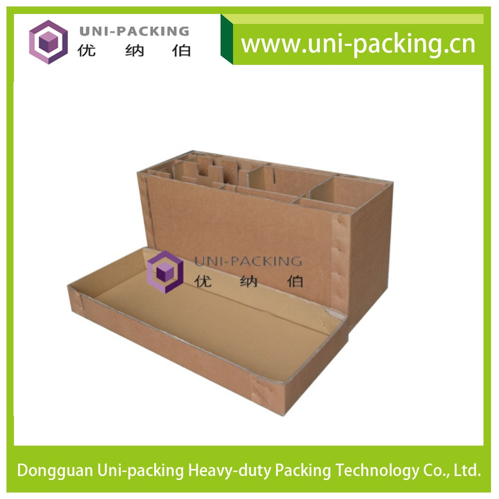 Double Wall Heavy Duty Packaging Carton for Beer Bottle, Hot Sale Tri-wall Corrugated Moving Box for shipping