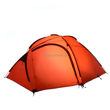 6 Person Professional Waterproof Fireproof 4 Season 2 Room Luxury Waterproof Tunnel Camping Large Family Tent