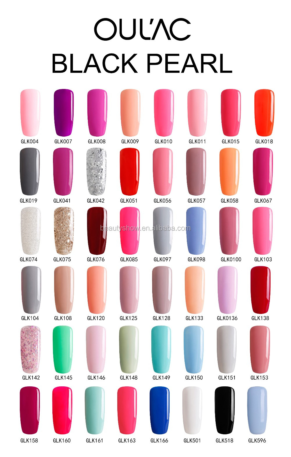 2018 OULAC Global Brand 12ml Bottle Nail Gel Polish With Nail Art Acrylic Powder