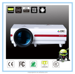 cre x1500 Android 4.4 mobile phone lcd projector 3500 lumens mini proyector led portable 1080p projector china mobile phone