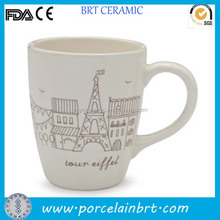 Popular red ceramic eiffel tower mug christmas gift