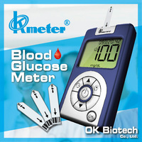 OKmeter No Coding Blood Glucose Meter - Home Testing Diabetes Medical Diagnostic Test Kit