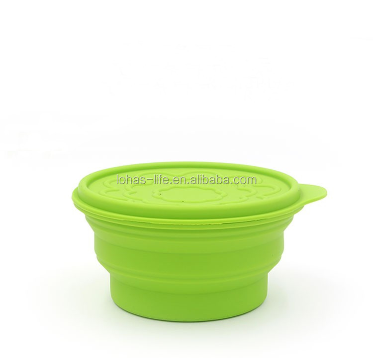 2016 Hot Sale Lowest Price New Design Silicone Folding Bowl