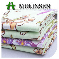 Mulinsen Textile Hot Sales Woven Printed Poplin Cotton Spandex Blend Fabric