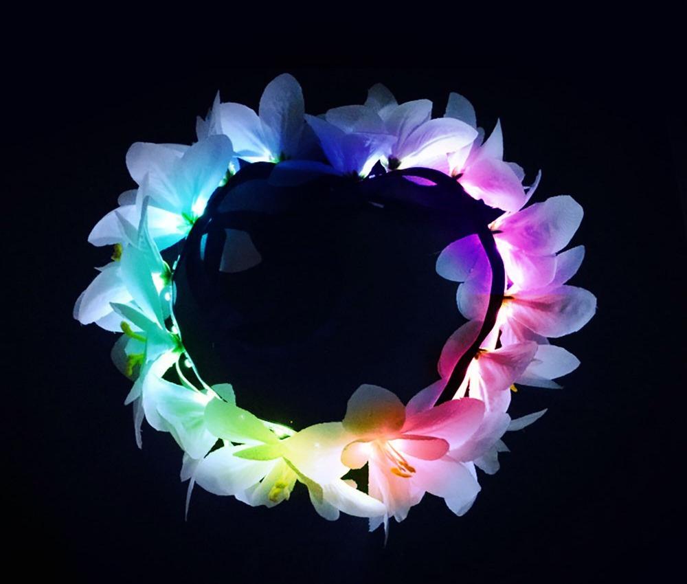 Серебряный Венок Colorful-Led-wedding-flower-wreaths