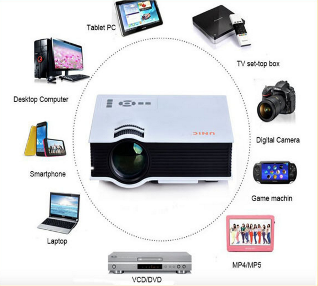 UC40 UNIC Cheap 800:1 Contrast Ratio and Yes Portable mini projector hd 1080p