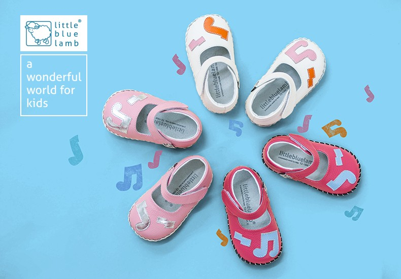2016 littlebluelamb BB-A31605-PK infant soft leather baby shoes toddler shoe
