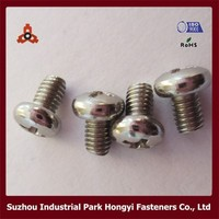 GB818 M3X4 SS304 cross pan head m3 screw standard length