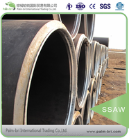 China large diameter SSAW welding steel pipes prices corrugated culvert drainage ventilating duct pipeline in chaeper price
