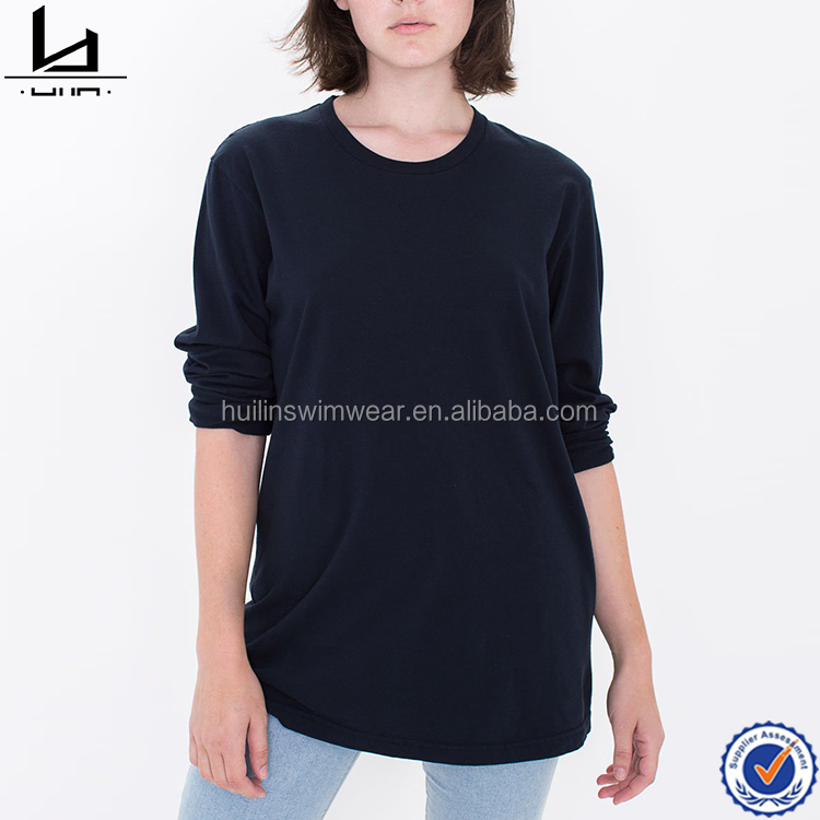 Hot sale jersey cotton long sleeves women tee shirts custom blank t shirt with printing