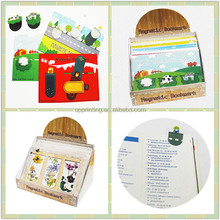 Custom Magnetic Bookmark with postcard, Cute Kid's Bookmark with Display box