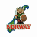 Custom Made Norway Tourist Souvenir Fridge Magnet