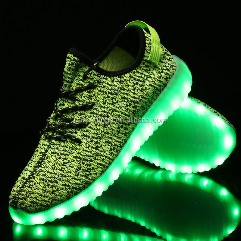 China Factory OEM wholesale and retail led yeezy shoes adult yeezy boost 350 led shoes