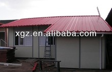 Slope roof steel structure prefabricated house