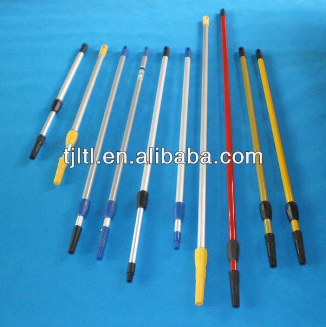 inner lock & outer lock colourful mop&floor handles ,extension bars