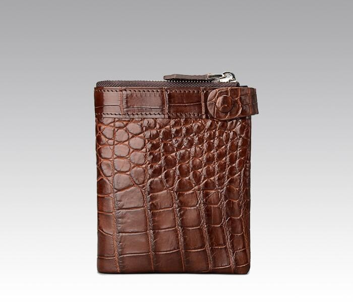 luxury good quality bifold wallet, 100% genuine crocodile skin leather wallets for men