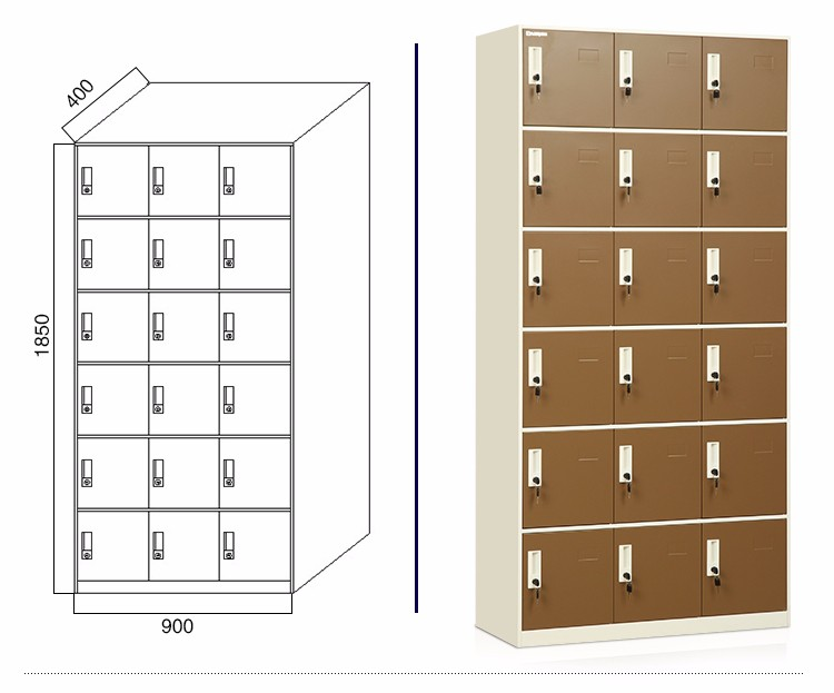 Knock down 18 door stainless steel wardrobe locker buy for 18 door locker