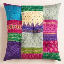 Fashion Home Textile Embroidered Sari Patchwork Floor Cushion