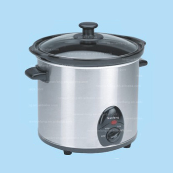 Best food 2.5 litre sear and stew small 3.0qt Round Stainless Steel Slow Cooker