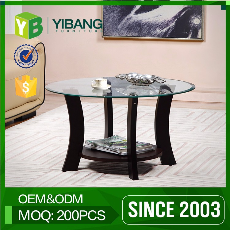 Wholesale Yibang Factory Price Center Coffee Table Round Wood