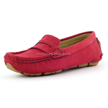 KS30595A High Quality Classic Kids Spanish Suede Leather Shoes Real Leather Shoes