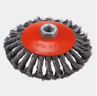 100x21 Twisted knot bevel wire cup brush for surface cleaning