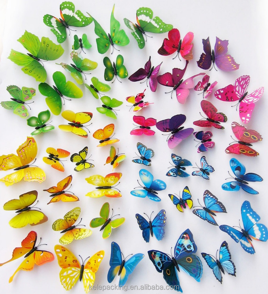 12pcs/set Butterfly Die Cut decor paper craft