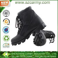 Men's black military cavalry boots