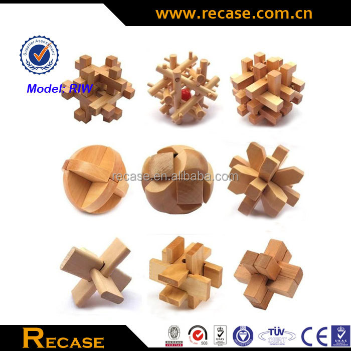 Childrens educational toys unlock wooden puzzles