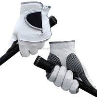 Factory hot sale great quality white cabretta leather golf glove